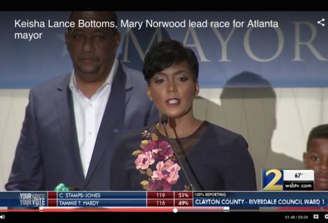 Norwood, Bottoms head to runoff in Atlanta mayor's race